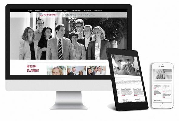 Pendopharm responsive website
