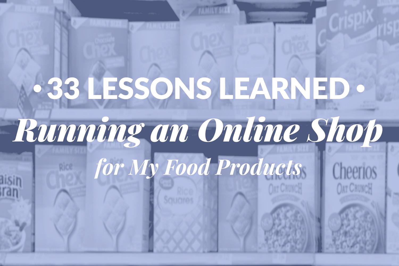 running online shop food