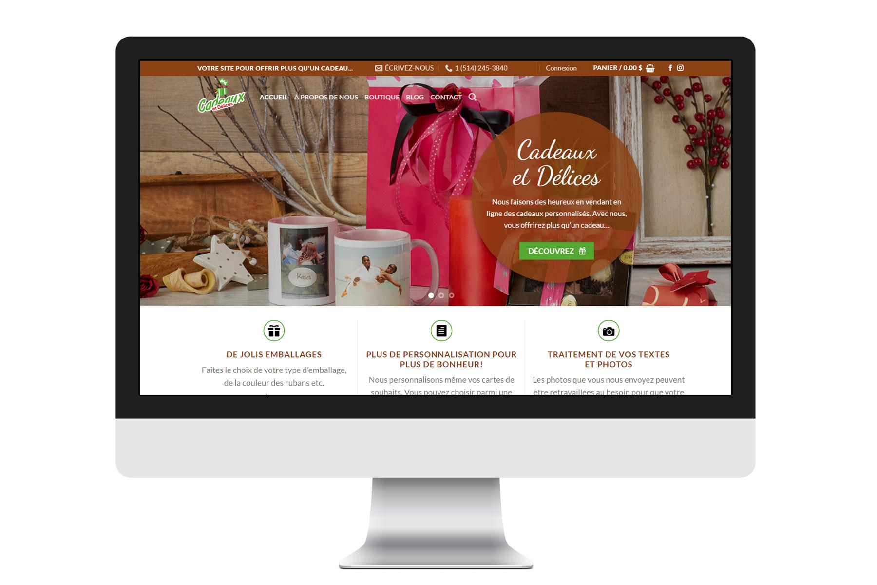 Cadeaux et délices responsive website
