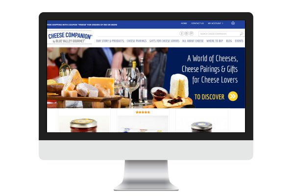 Cheese Companions responsive website ecommerce