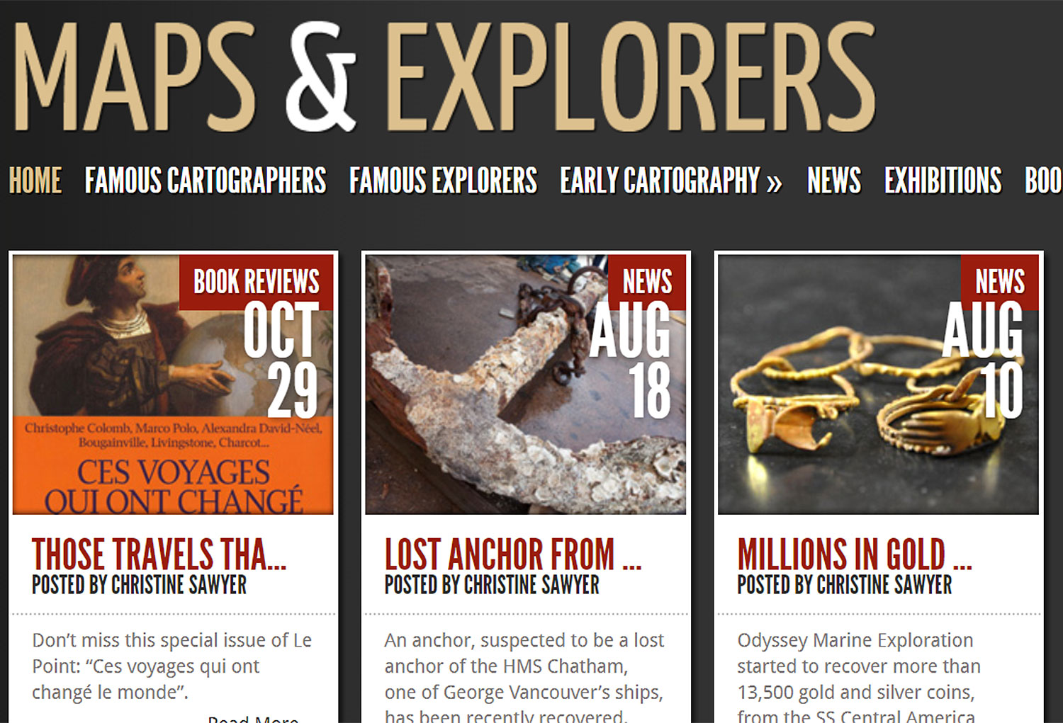Maps & Explorers Responsive Website
