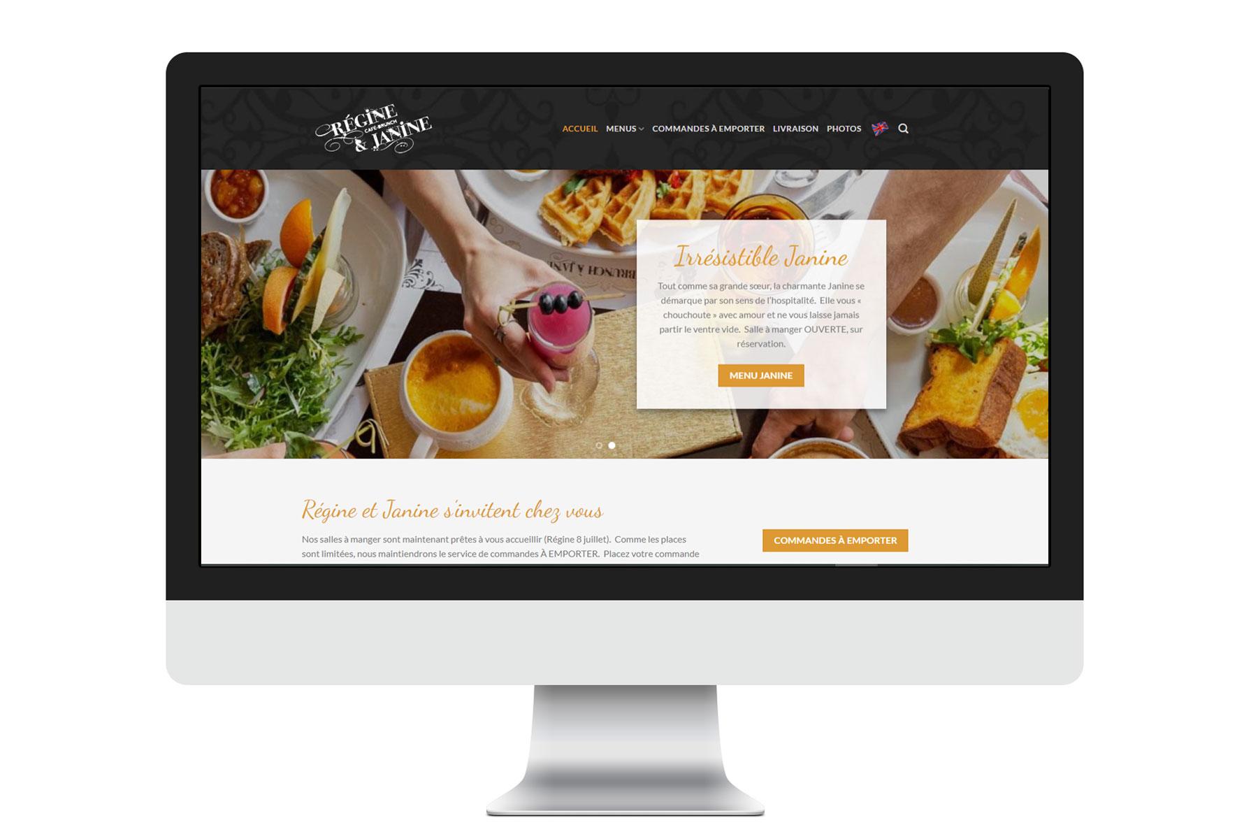 Bilingual restaurant website ecommerce