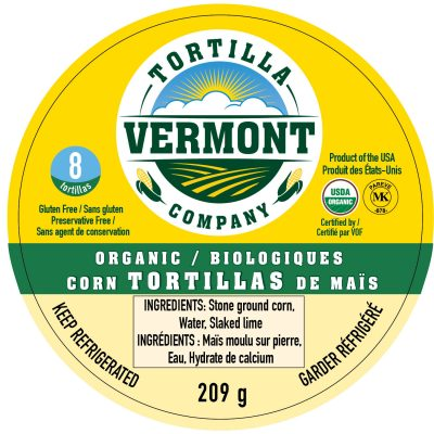 Vermont Tortilla Canadian Labeling
