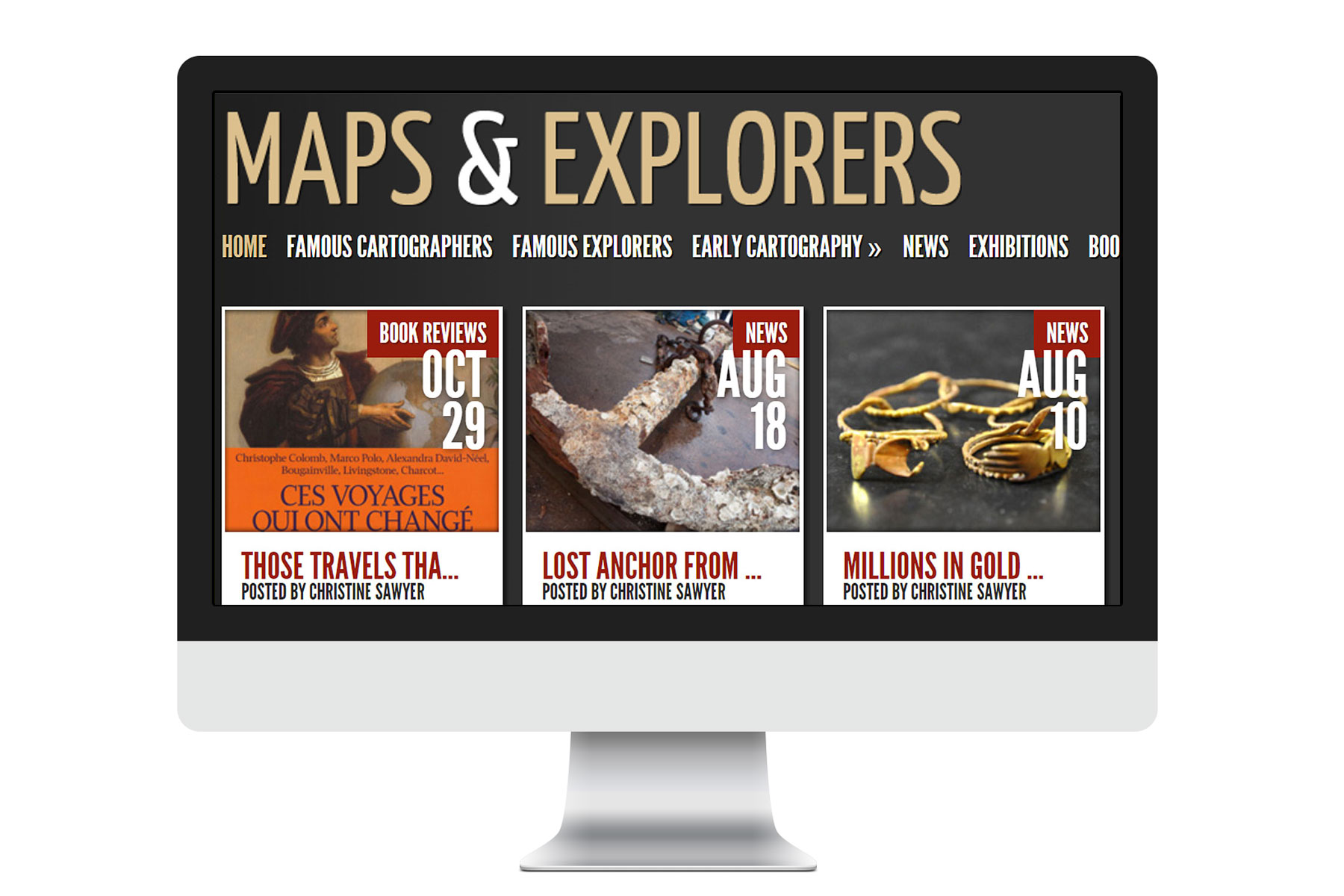 maps and explorers responsive website