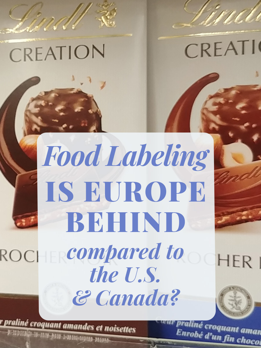 Food labeling: Is EU behind vs. the US & Canada