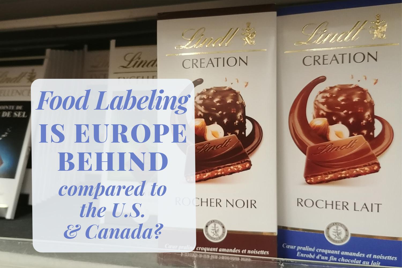 EU food labeling: Is Europe behind