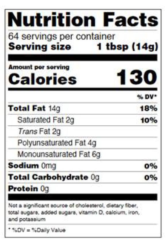 Figure 16: Simplified Format Label